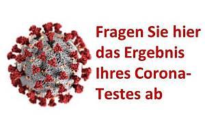 Abfrage Ergebnis Coronatest